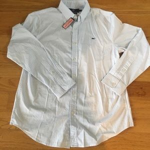 NWT men's large VV button down